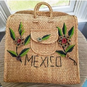 VINTAGE Mexico Straw Bag